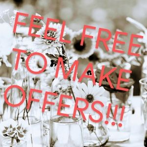 I accept most offers! Don't be afraid to bundle!